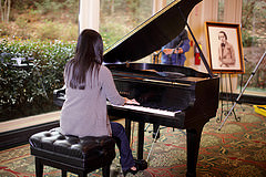 Practice playing the piano regularly