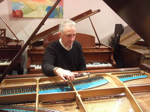 Piano Tuning at our workshop near London